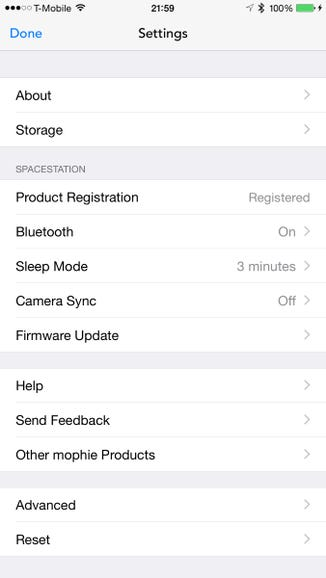 Garmin Vivoactive details in the smartphone app