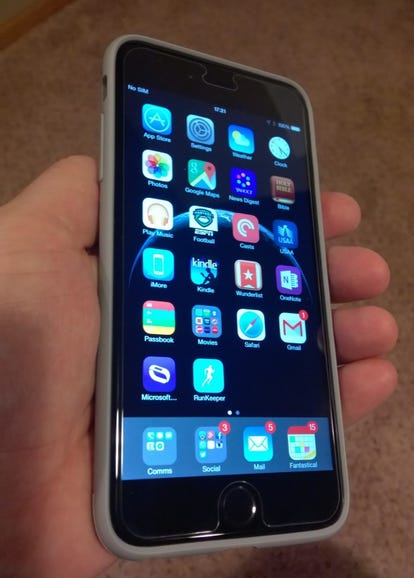 Moshi iGlaze Armour and iPhone 6 Plus in hand
