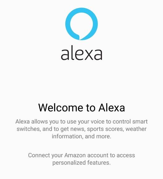 Huawei Alexa app on the Mate 9 smartphone