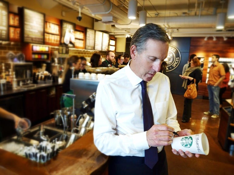 Howard Schultz, former CEO of Starbucks