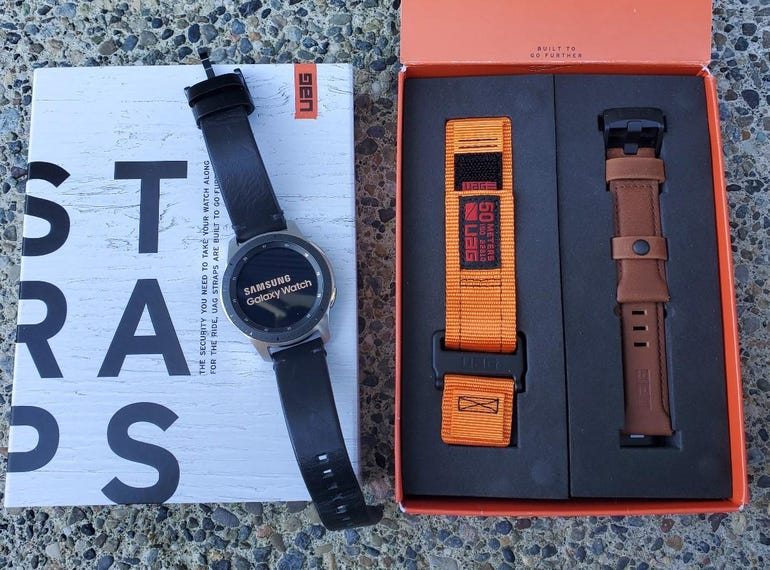 Two UAG watch straps for several Samsung Galaxy Watch models