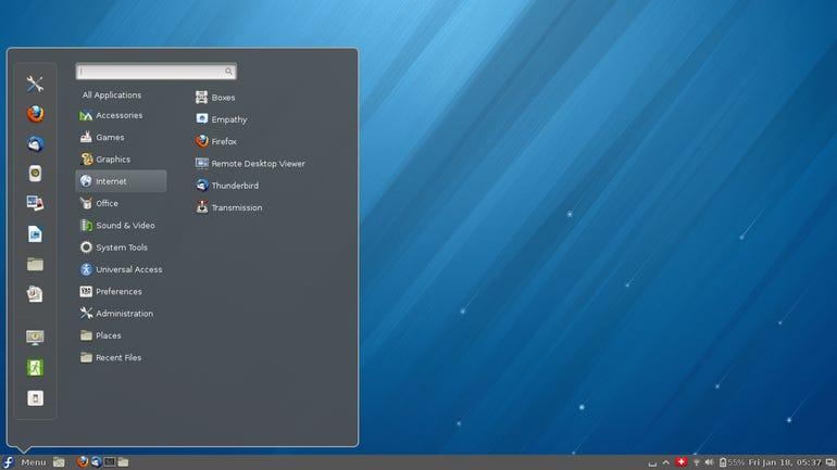 Cinnamon Desktop and Menu