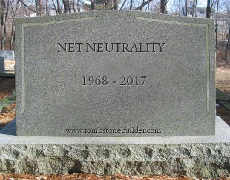 Net Neutrality Tombstone