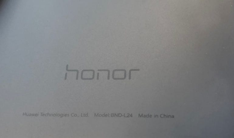 Honor branding on the back too