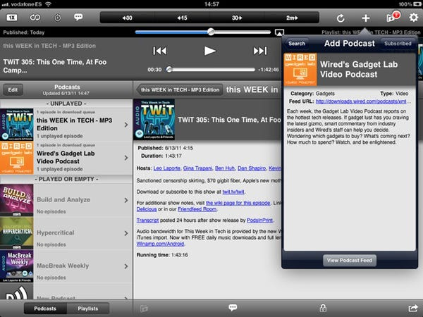 Downcast - The definitive podcast app - $1.99