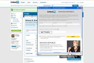 Pop-up ads on LinkedIn? How very MySpace