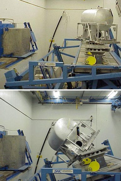 The tanks are placed on a robotic platform