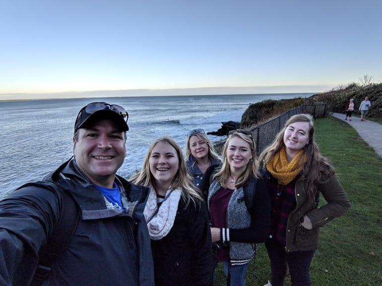 Family selfie - wide-angle