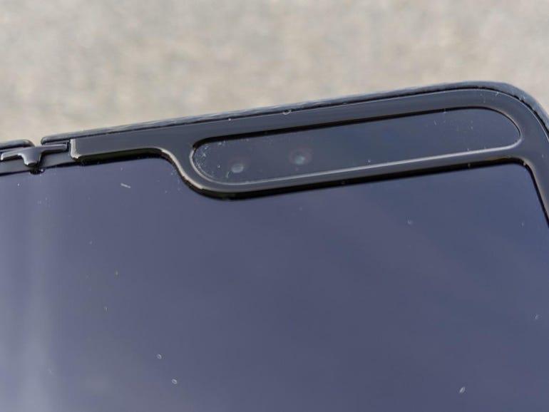 Dual inside front-facing cameras and sensors