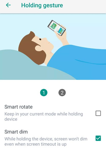Holding gesture support