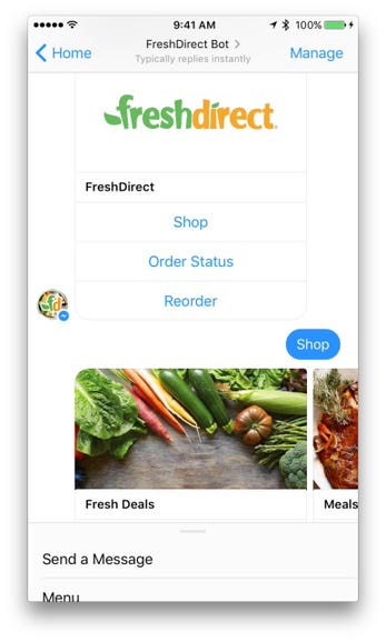 Shop with FreshDirect