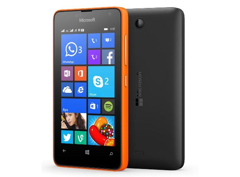 The dual-SIM Lumia 430.