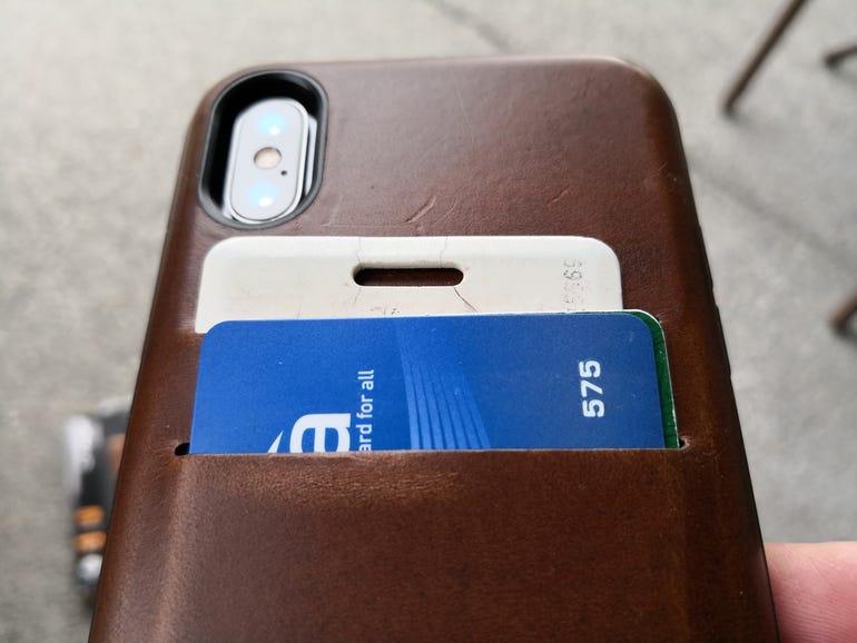 Upper back of the Wallet Case