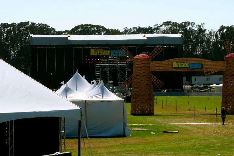 Before the music starts at Outside Lands