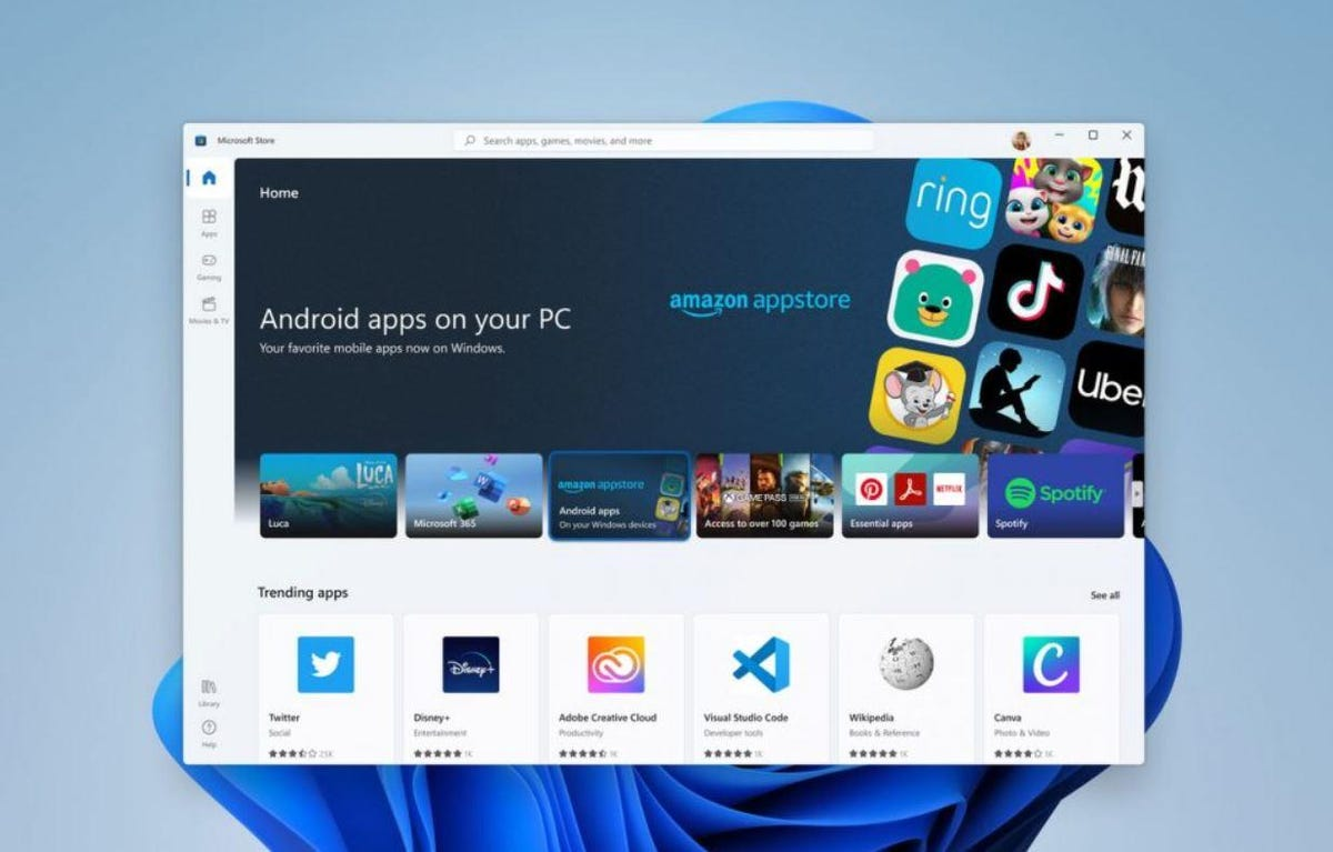 Windows11: Le nouveau Microsoft Store va accueillir les apps... Android