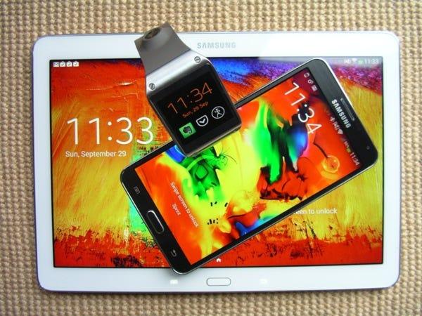 Samsung Galaxy trio work well together