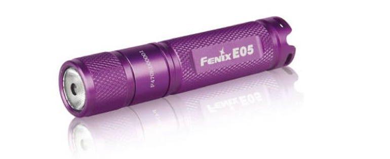 Fenix's E05 flashlight is sturdy and uses an LED bulb.