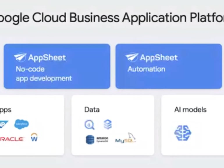 Google Cloud's Business Application Platform aims to court citizen, business developers with no-code approach | ZDNet