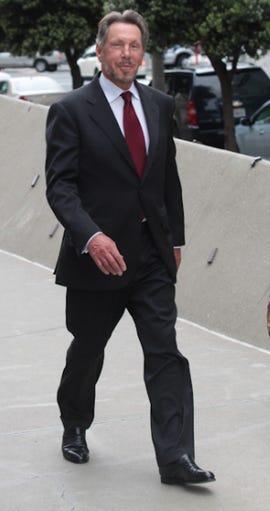 Ellison leaves the courtroom. Credit: James Martin, CNET
