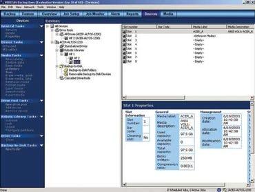 VERITAS' main interface