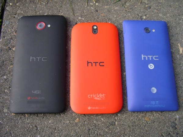 Back of this HTC lineup