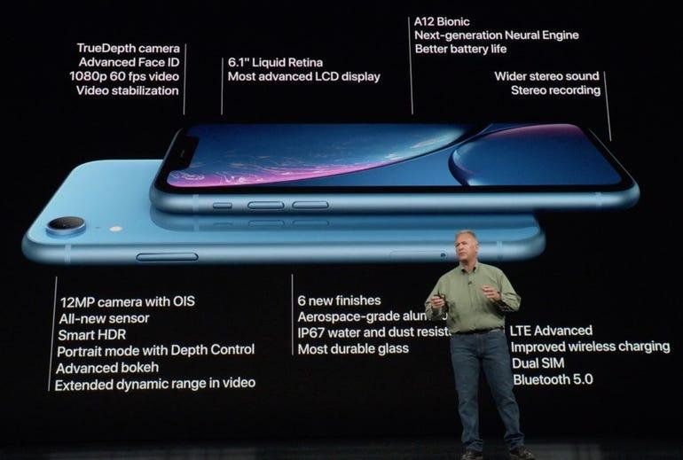iPhone XR tech spec highlights