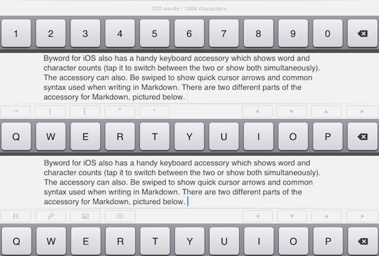 Byword iOS keyboard - Jason O'Grady