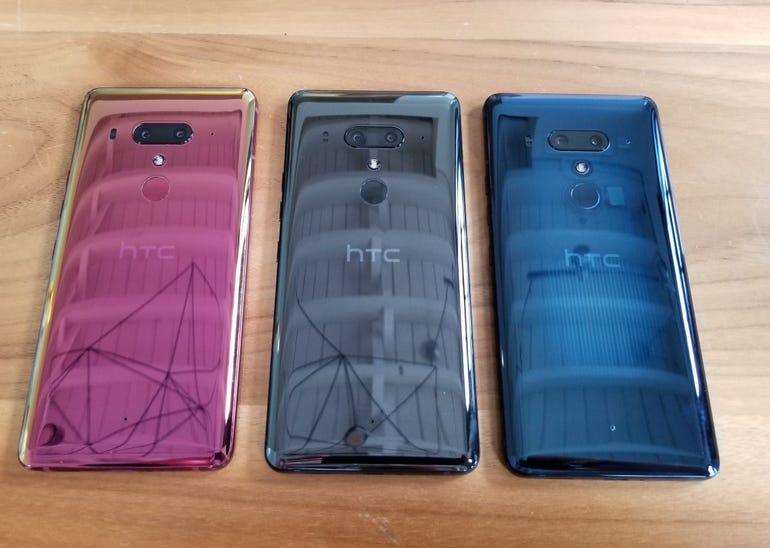 HTC U12 Plus in three colors
