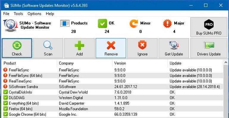 SUMo screen shot