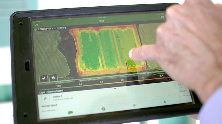 Using GPS to avoid crop overlap