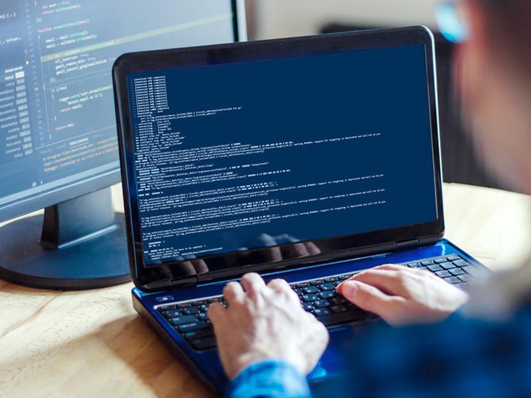 Software developer, freelancer working at home