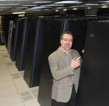 Dave Ferrucci, IBM scientist and Watson project director, with his baby.