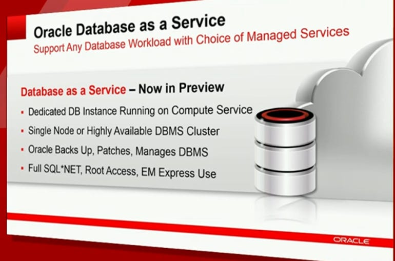oracle database as a service