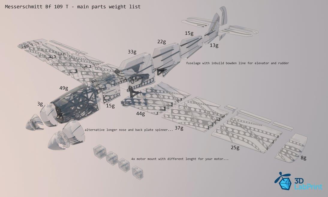 3D printed airplane plans