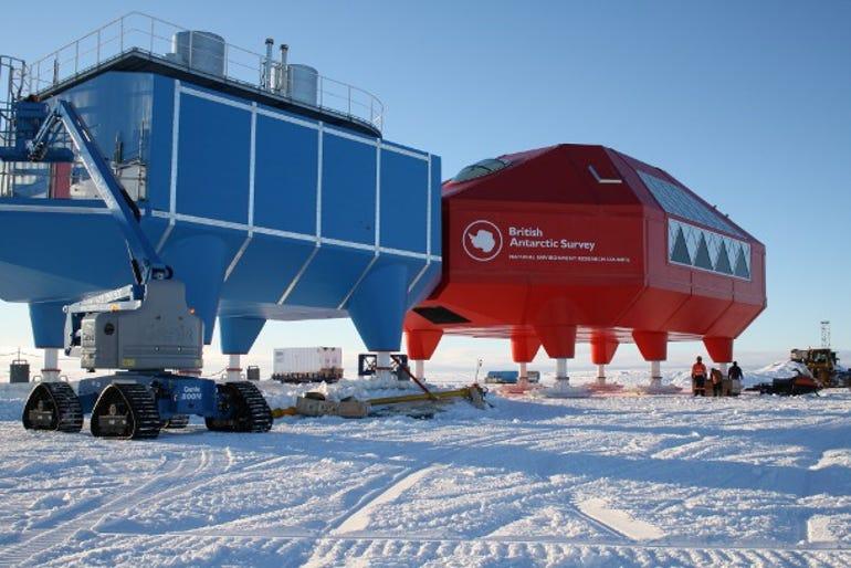 The British Antarctic Survey Halley base