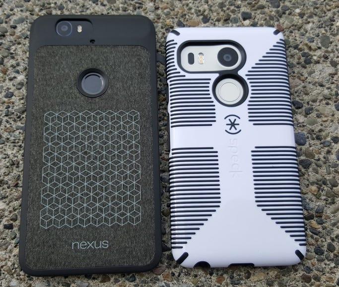 Nexus 6P and Nexus 5x in cases