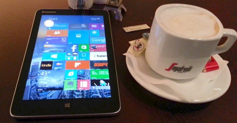 Miix 2 8 in coffee shop