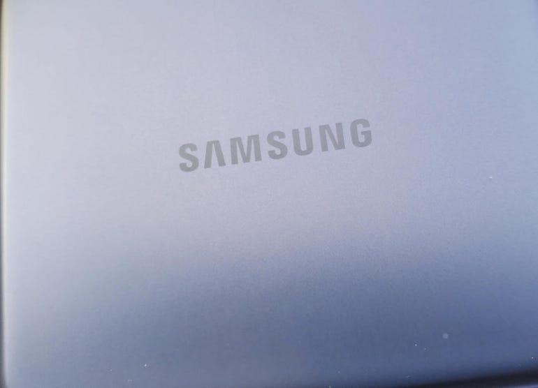 Samsung branding and lovely Phantom Violet color