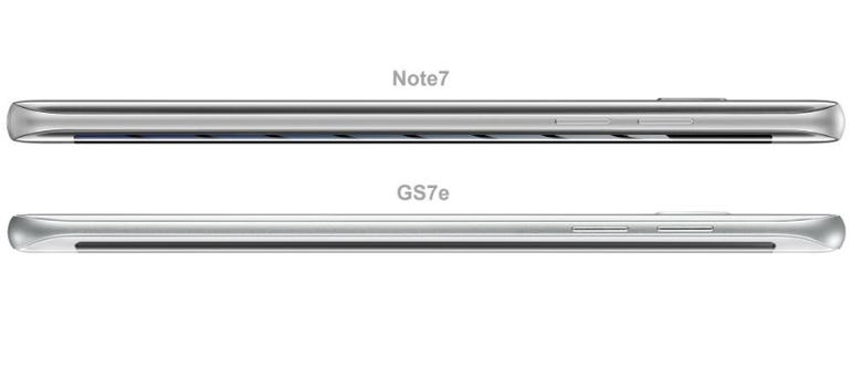 Galaxy Note 7 vs Galaxy S7 Edge rearview
