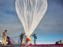 Google's Project Loon uses big networked air balloons to fill internet black holes
