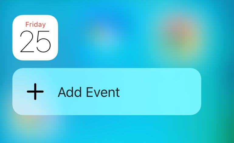 3D Touch for Calendar