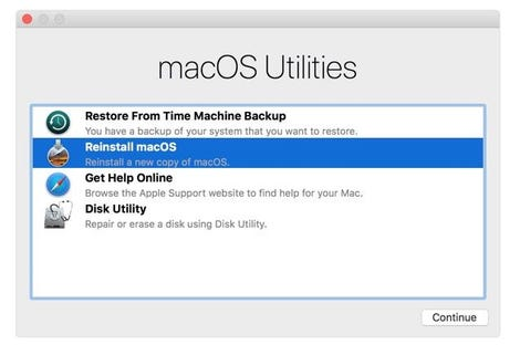 Recover your data from your backup