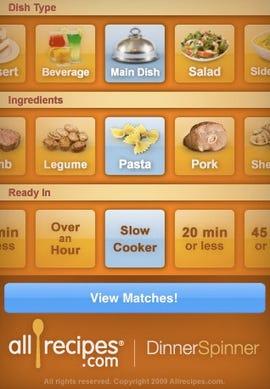Dinner Spinner for iPhone