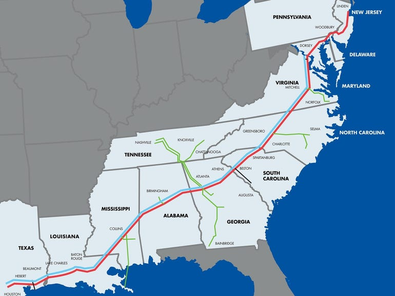 Colonial Pipeline cyberattack shuts down pipeline that supplies 45% of East Coast's fuel thumbnail