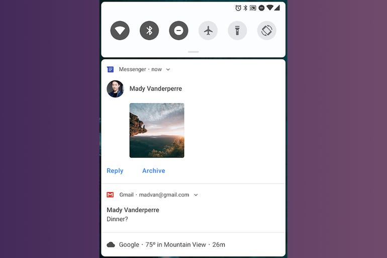 Android P - Improved messaging notifications
