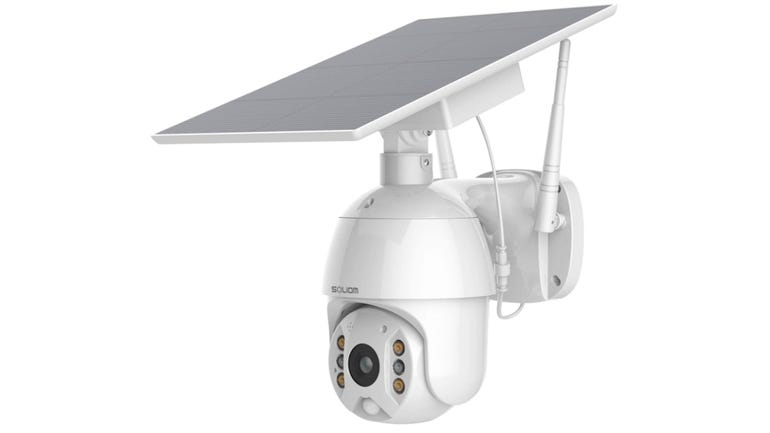 Soliom S600 security camera review pan and tilt with a spotlight to light your way home zdnet