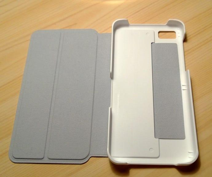 Inside the White Flip Case