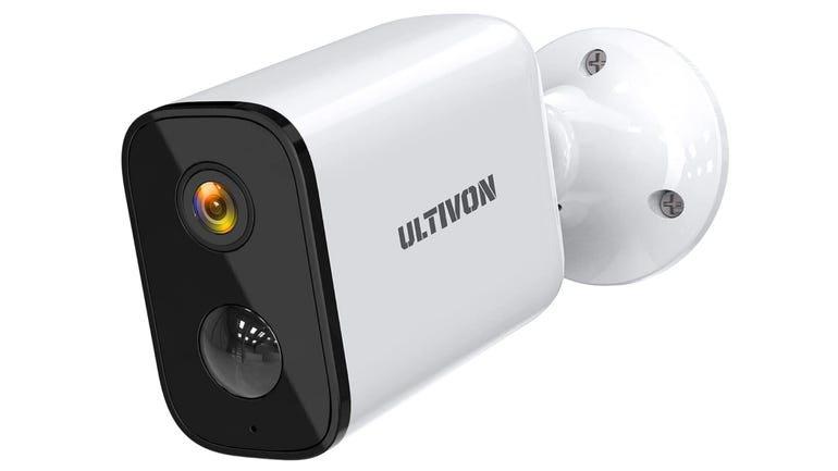 Ultivon E100 surveillance camera review battery powered camera with motion detection and loud alarm zdnetbrown-zdnet.png
