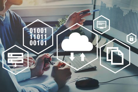 cloud computing concept, data storage online