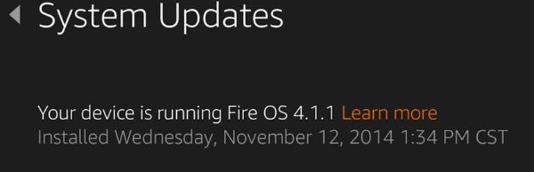 Fire OS 4.1.1